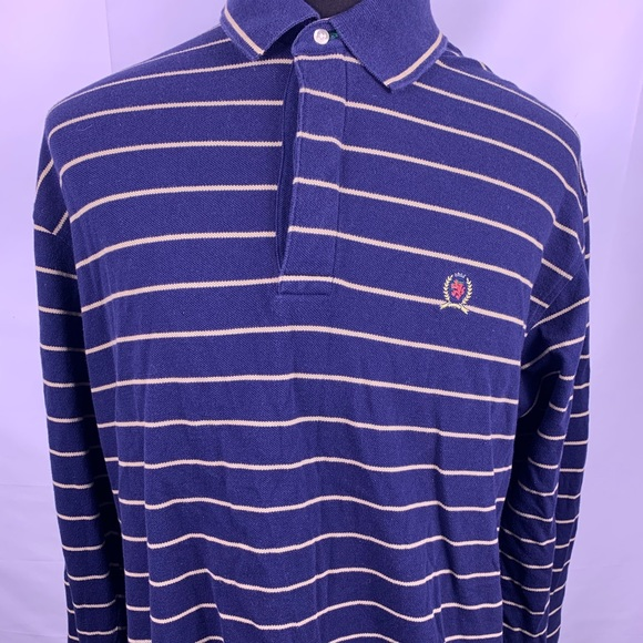 26672622 Tommy Hilfiger Shirts | 90s Vintage Striped Mens Rugby Polo | Poshmark